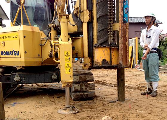 【8/2・ご報告】木杭で地盤改良・施工見学会 第3回