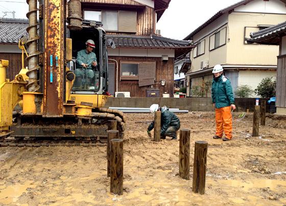 【12/10】県産材を用いた地盤改良・施工見学会 第5回